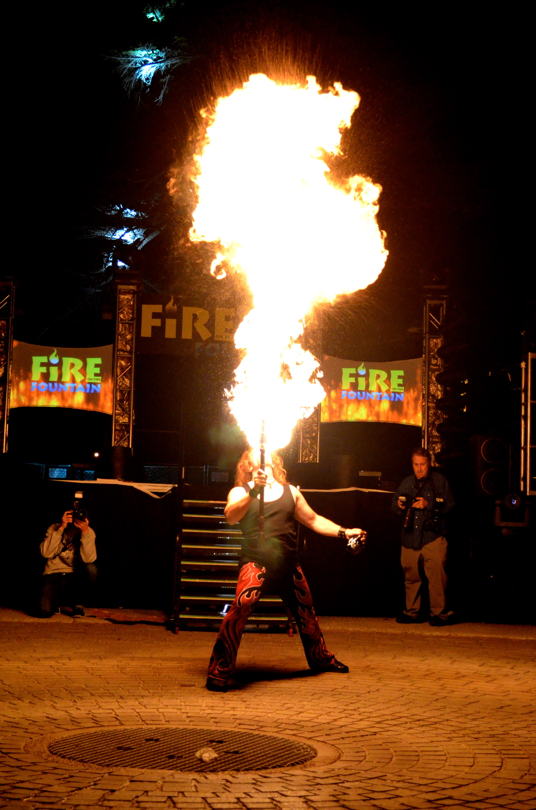 fire acrobat acts  at the circus in your own backyard