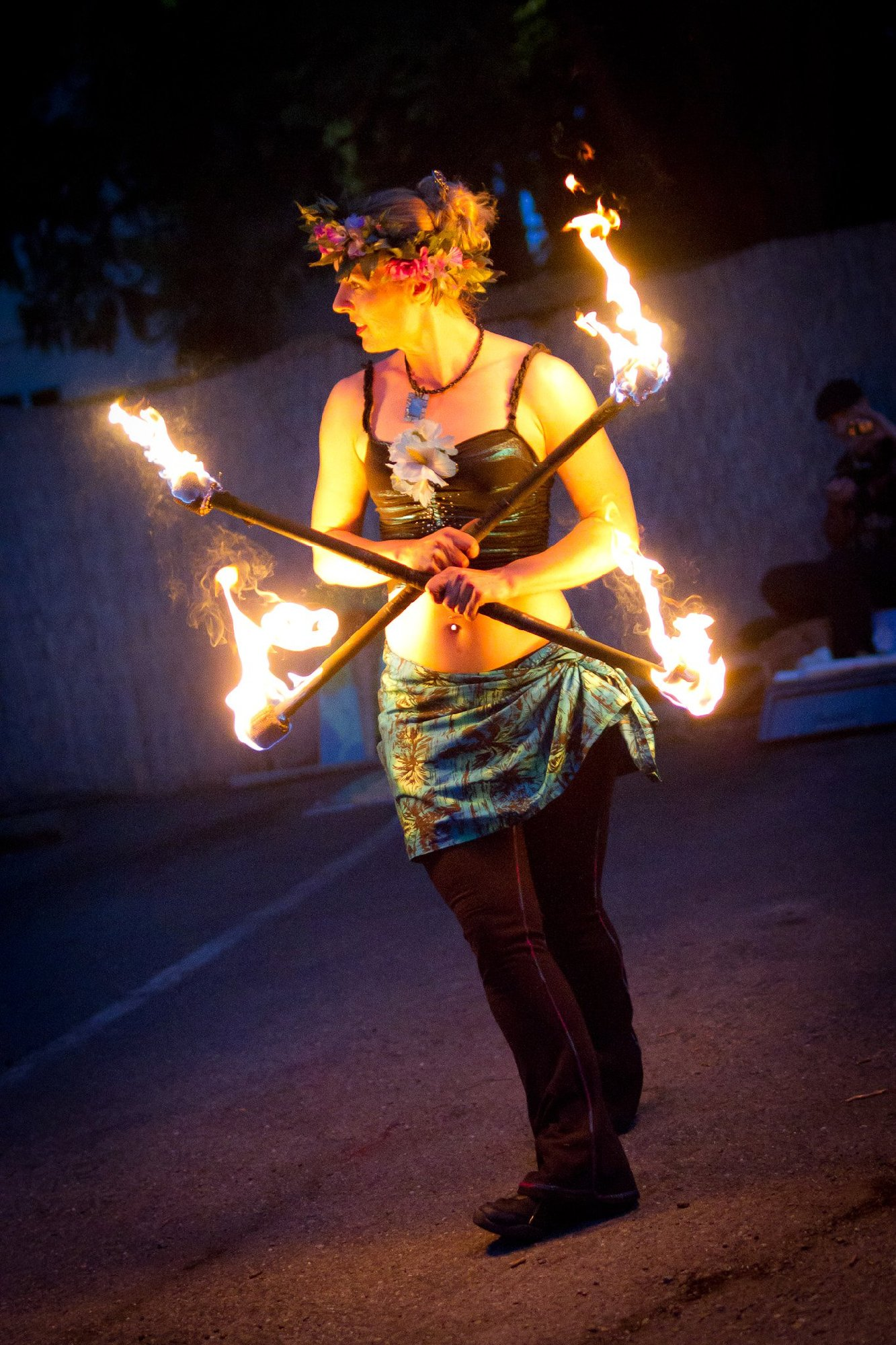 Luau Themed Party Ideas Hawaiian Dancers With Fire For