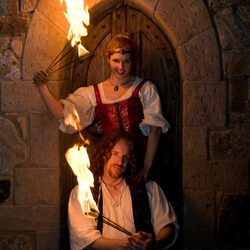 renaissance castle fire eaters